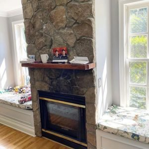 30 year old fireplace & stone